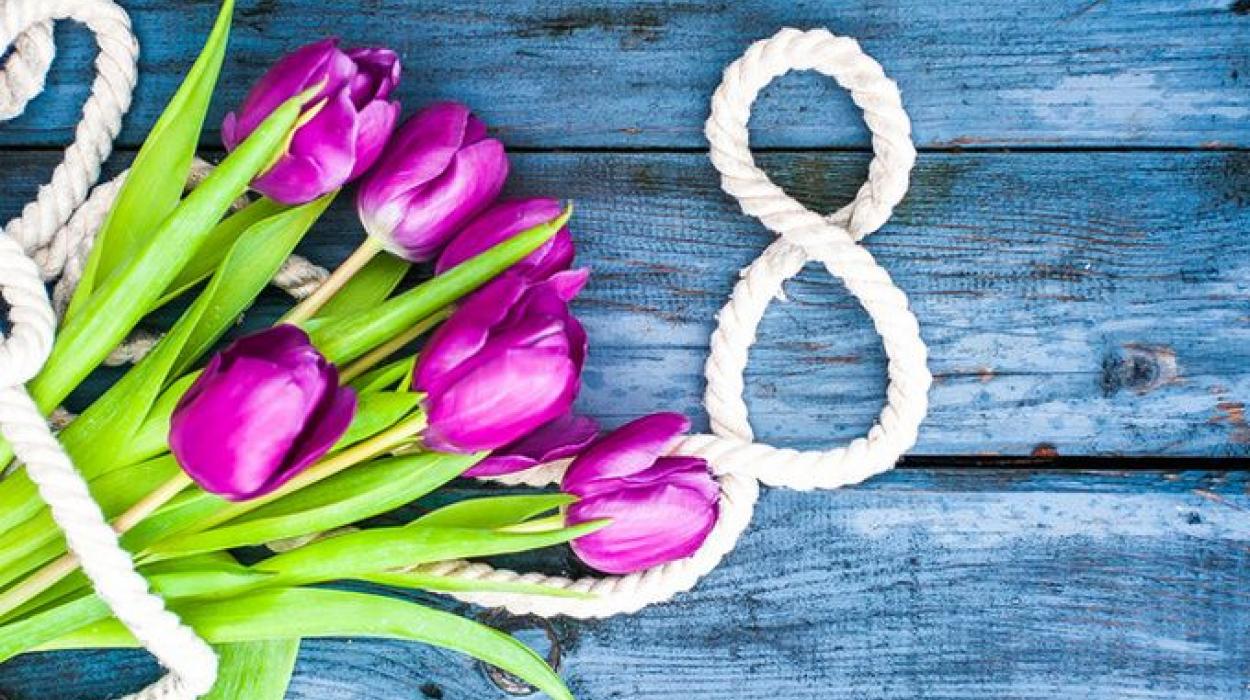 Поздравляем с 8 Марта наших прекрасных дам!